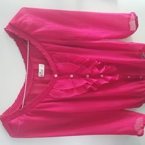 Hot Pink Beautiful Long Sleeve 100% Poliester